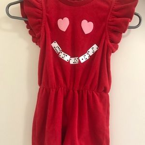 Velvet girls shirt jumper hearts eyes domino smile